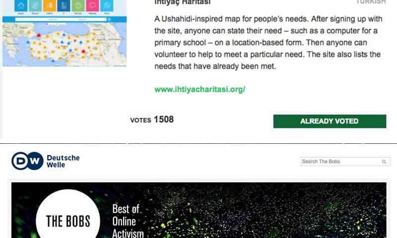 İyilik İçin Teknoloji'de Oyumuz İhtiyaç Haritası'na…